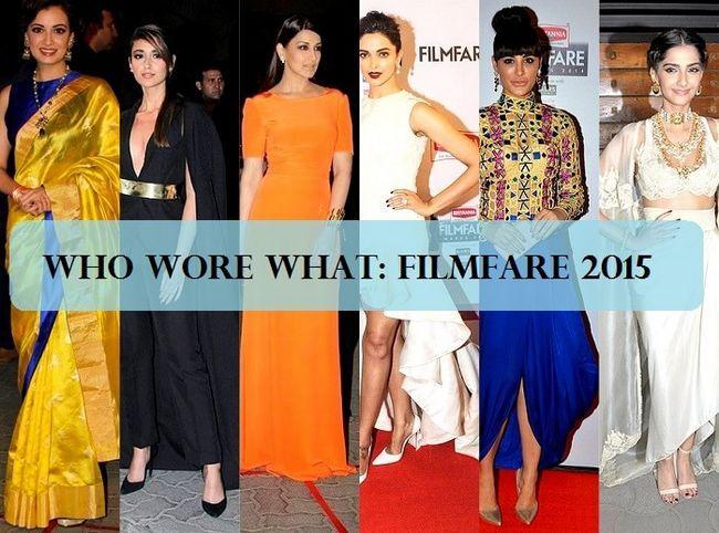 Beste gekleidet und schlechtesten gekleidet: Filmfare Awards 2015