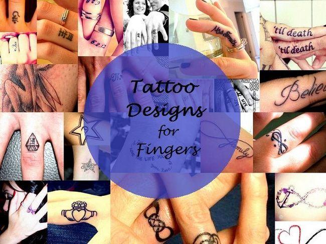 Beste klein und niedlich Tattoo-Designs für Finger: Ring und Index
