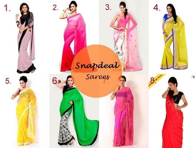 Beste sommerliche und girly Abschied Saris online kaufen