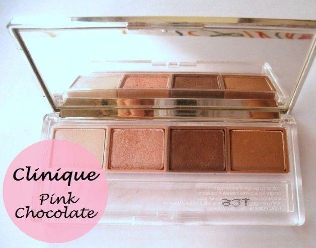 Clinique Farbe surge Lidschatten Quad rosa Schokolade: Überprüfung und Muster