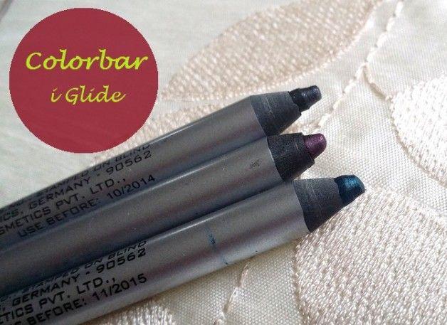 Colorbar i-glide Lidstifte Bewertungen und Muster: flirty turq, Prunella, Kohlengrube