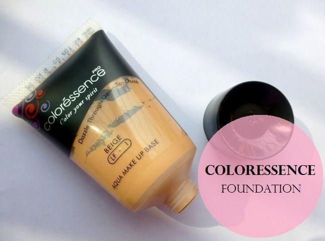 Coloressence aqua Make-up Basis Grundlage beige: Überprüfung und Muster