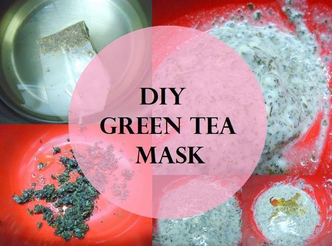 DIY Tutorial: wie grüner Tee Gesichtsmaske zu Hause machen
