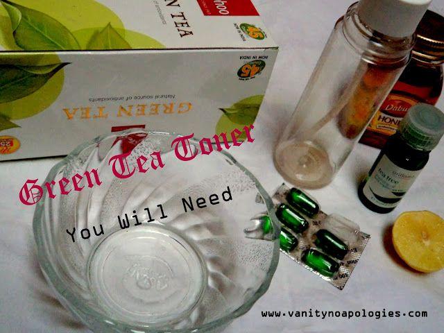Do it yourself: grüner Tee Toner (Schritt für Schritt Tutorial Bild)