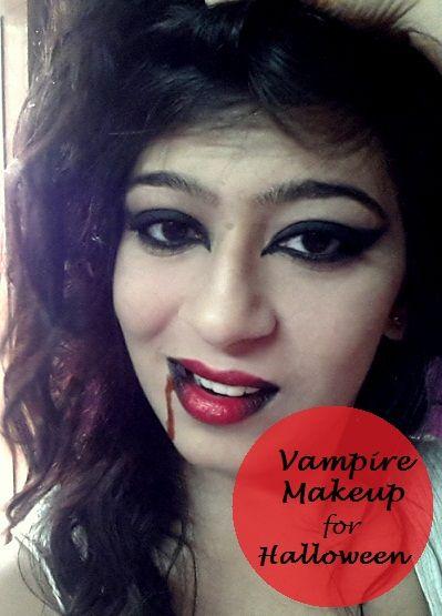 Einfache Vampir Make-up Halloween-Tutorial für Anfänger