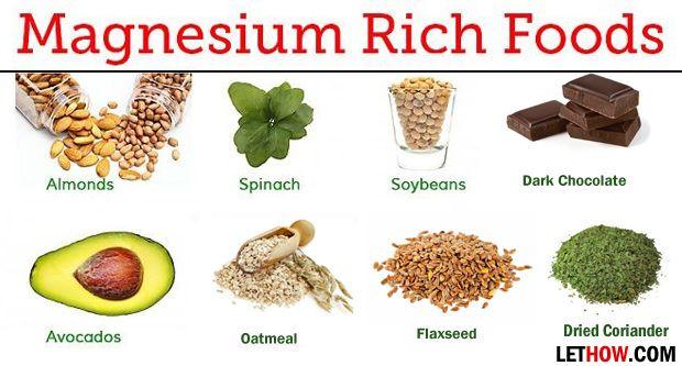 Lebensmittel mit hohem Magnesium (reich an Magnesium)
