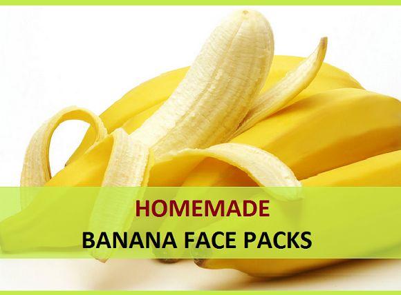 Selbst gemachten Bananengesichtspackungen für trockene Haut, Haut strahlen und Fairness