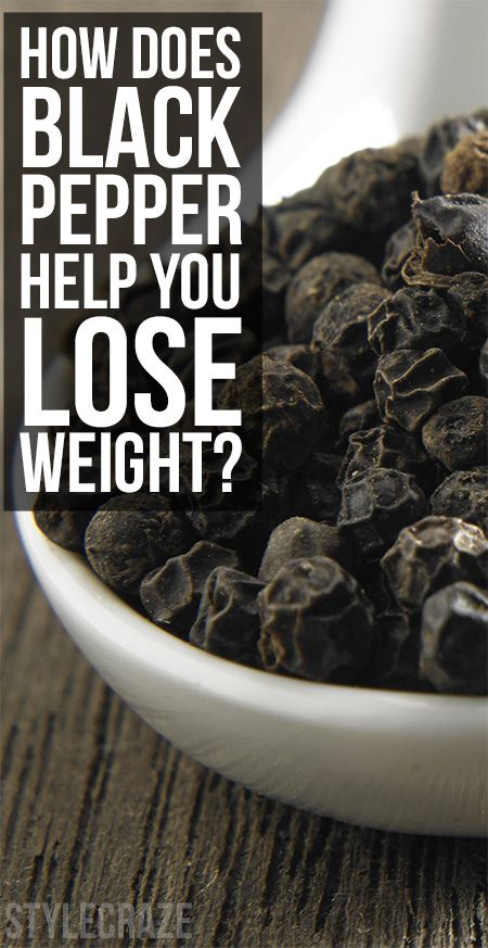 Wie funktioniert schwarzer Pfeffer, Gewicht zu verlieren helfen?
