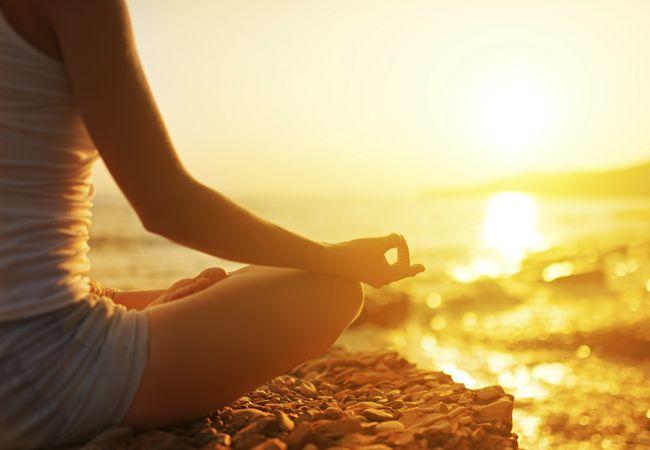 Wie zur Entspannung mit Yoga