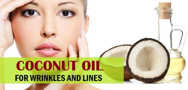 Wie Kokosnussöl für Falten, feine Linien auf dem Trockenen Gesicht verwenden