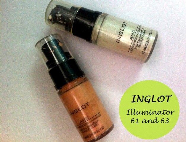 Inglot amc Gesichts- und Körper Illuminator 61 und 63: Bewertungen und Muster