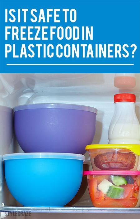 Ist es sicher, Lebensmittel in Kunststoffbehältern einzufrieren?