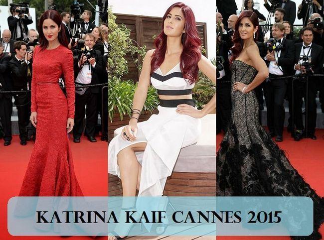 Katrina kaif cannes 2015 Kleider, Make-up, rote Haare: was schief gelaufen ist