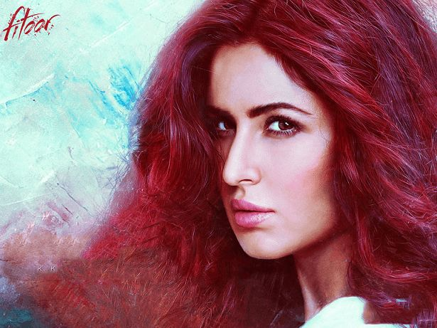 Katrina kaif fitoor Film Blick decodiert: Outfits, Make-up, rote Haare