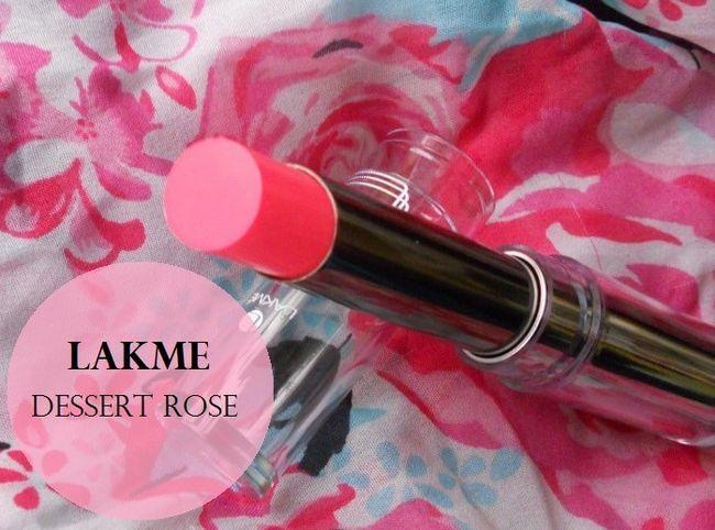 Lakme absolute Glanz Süchtigen Lippenstift Desert Rose: Überprüfung und Muster