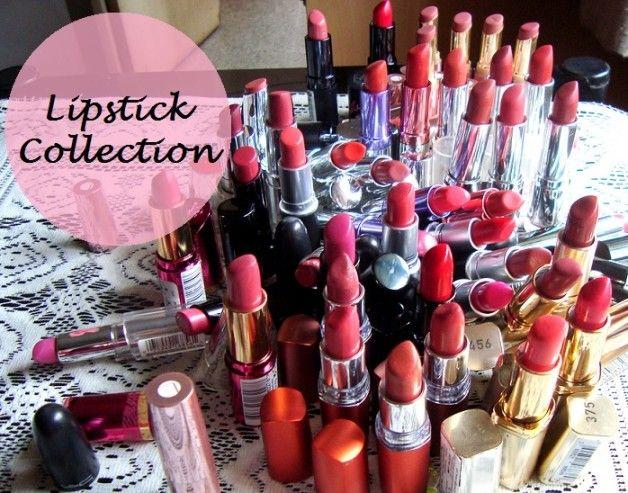 Lippenstift Sammlung von einer indischen Schönheit Blogger!