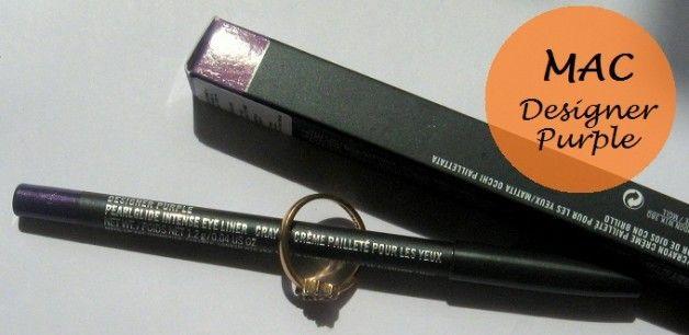 Mac pearlglide intensiv Eyeliner Designer lila Muster, Bewertung und EOTD