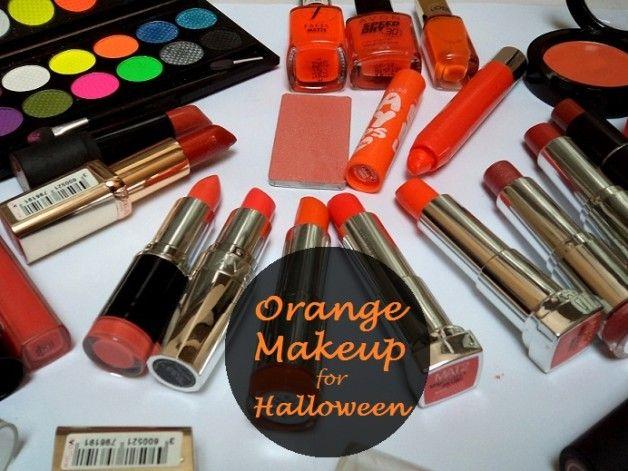 Meine Orange Make-up-Kollektion: Lippenstifte, Lidschatten, Rouge, Lippenbalsam, Nagellacke