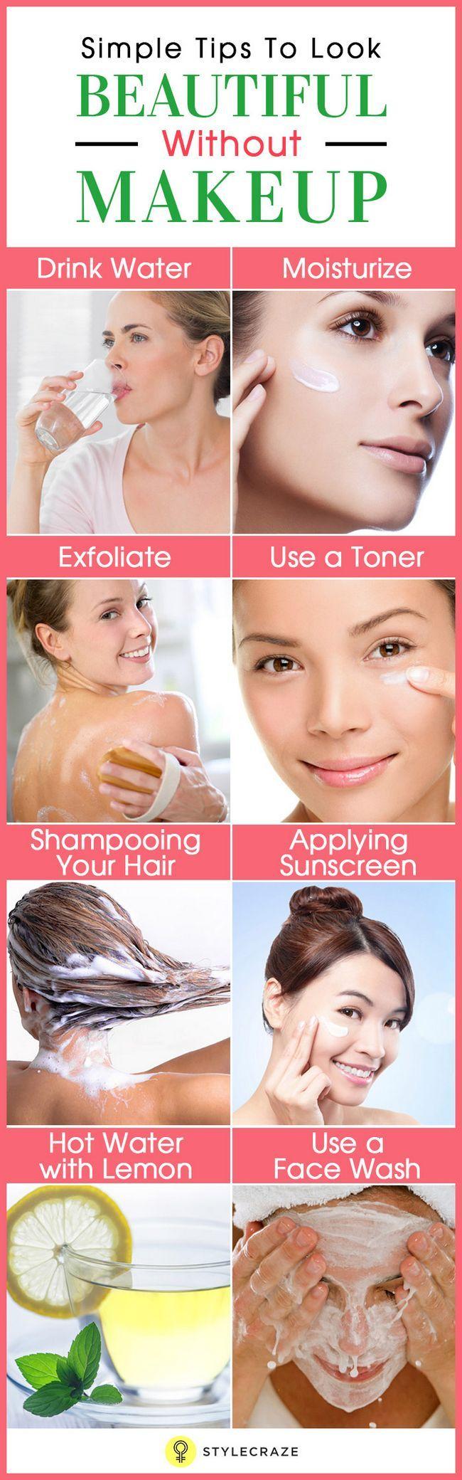 Einfache Tipps schön aussehen, ohne Make-up