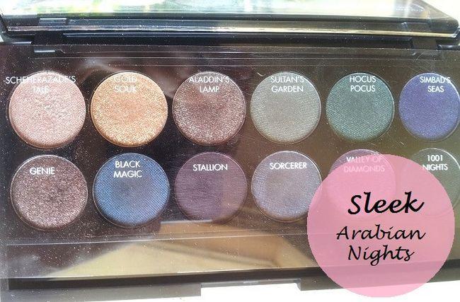 Sleek Make-up arabische Nächte i-göttliche Lidschatten-Palette: Überprüfung und Muster