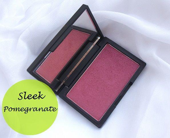 Sleek Makeup blush Bewertung und Muster: Granatapfel