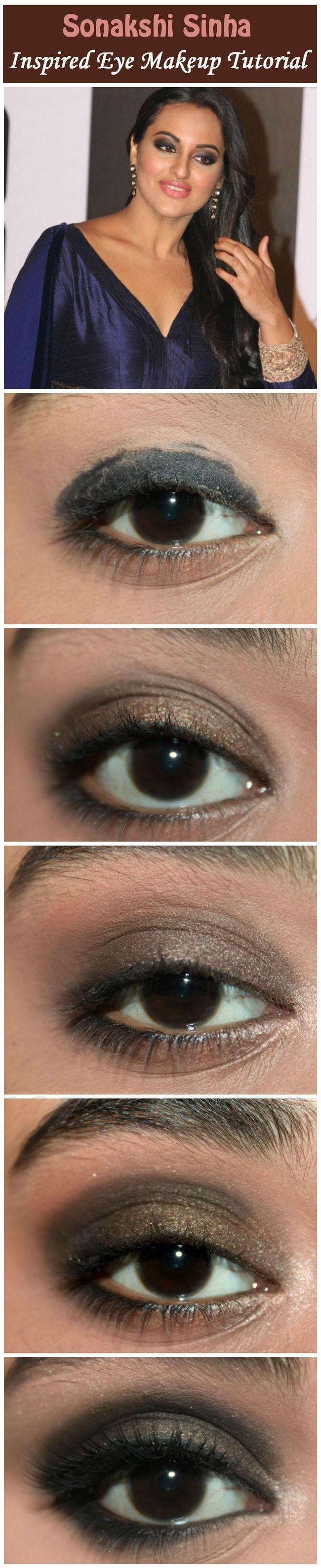 Sonakshi sinha inspiriert Augen Make-up - Tutorial mit detaillierten Schritte und Bilder