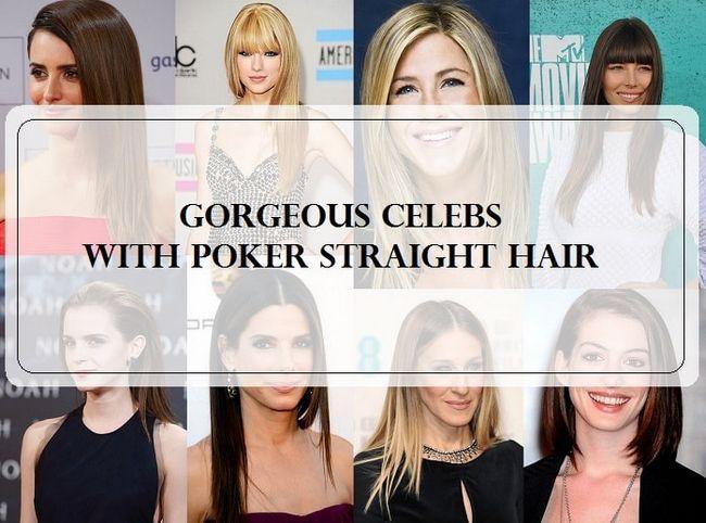 Top 10 Prominente mit feinem Poker gerade Frisuren