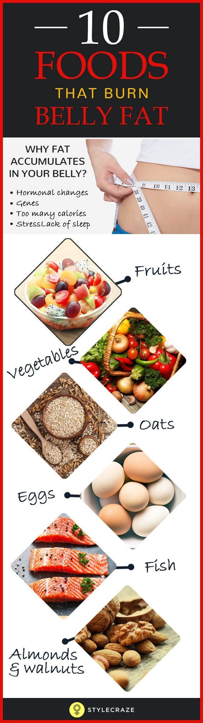 Top 10 Lebensmittel, das Bauchfett zu verbrennen