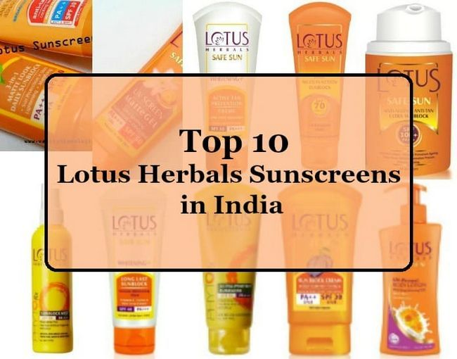 Top 10 Lotus herbals sunscreens in Indien