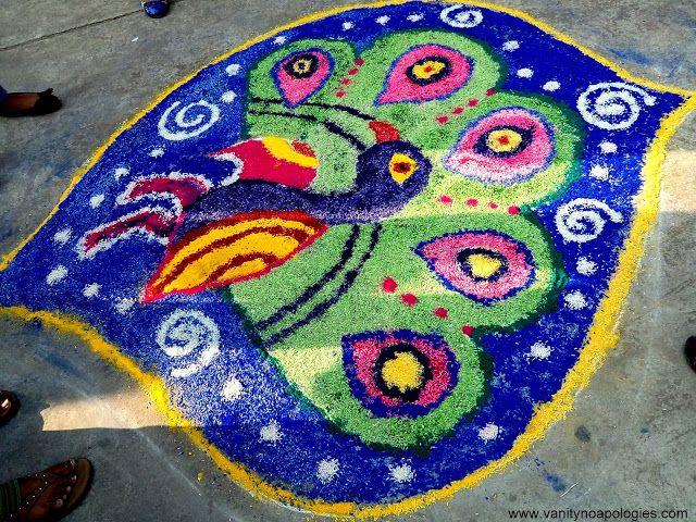 Top 4 zu gewinnen rangoli Entwürfe an meinem College und glücklich Diwali