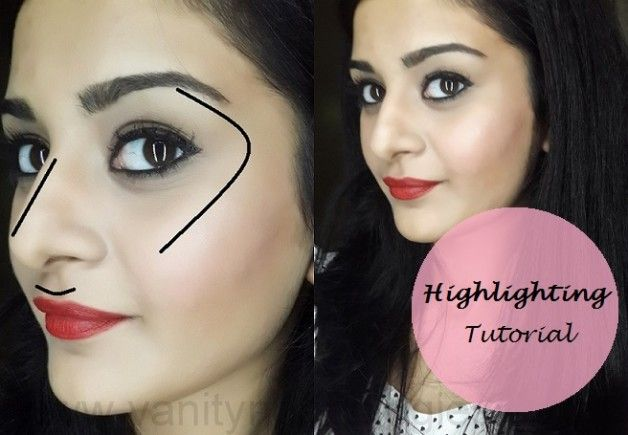 Tutorial: Wie Gesicht markieren (Schritte + Make-up-Produkte verwendet)