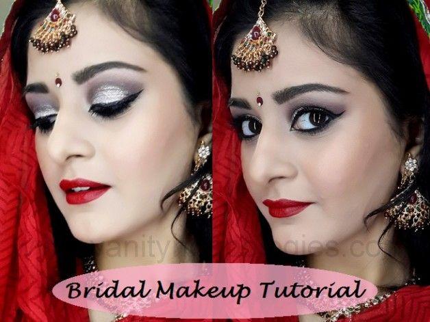 Tutorial: indischer / pakistanischer Braut Make-up Look (dramatisch smokey silver)