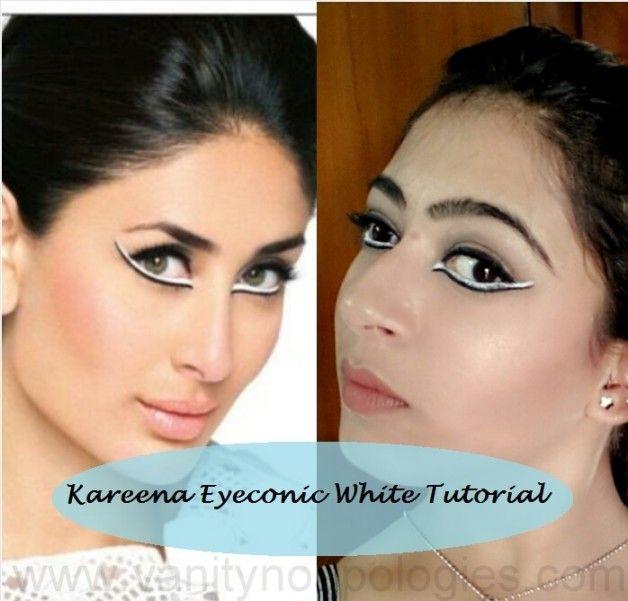 Tutorial: kareena kapoor tv ad Make-up aussehen lakme eyeconic weißen Kajal mit