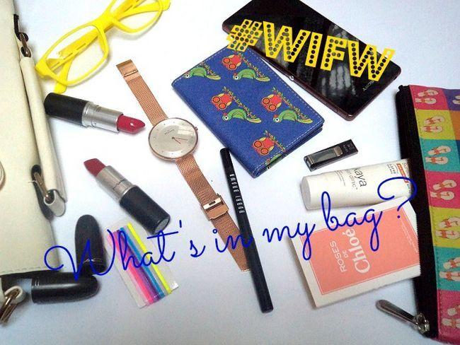Was ist in meiner Tasche: Wills Lifestyle India-Modewoche Ausgabe!