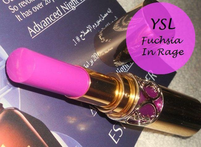 Ysl rouge volupte Glanz 19 fuchsia in Wut Lippenstift: Bewertung, Muster und FOTD